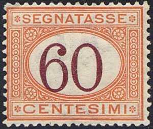 1925 - Segnatasse Regno - tipo del 1870 -  cifre brune