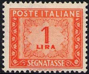 1947 / 1954 - Segnatasse  Repubblica - Cifra in ornato