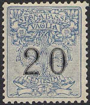 1924 - SEGNATASSE VAGLIA - Regno - cifre in nero su disegni allegorici