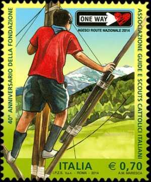 40° Anniversario della fondazione della Associazione Guide e Scouts Cattolici Italiani - AGESCI