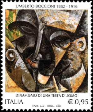 Patrimonio artistico e culturale italiano :  Centenario della morte di Umberto Boccioni