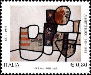 Patrimonio artistico e culturale italiano :  Centenario della nascita di Alberto Burri