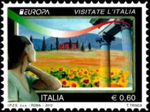 Europa - 57ª  serie - Visitate l'Italia -  Paesaggio collinare