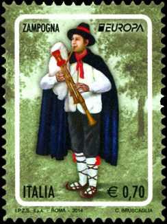 Europa - 59° serie - Strumenti musicali nazionali :  zampogna