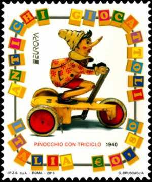Europa - 60° serie - Giocattoli antichi : Pinocchio