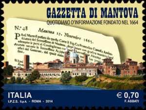 350° Anniversario della fondazione della  Gazzetta di Mantova