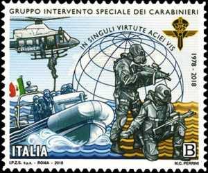 40° Anniversario della istituzione del GIS : Gruppo di Intervento Speciale dell'Arma dei Carabinieri