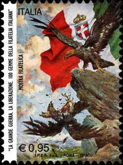 Mostra filatelica  «La Grande Guerra - La Liberazione - Cento gemme della filatelia italiana» - Roma