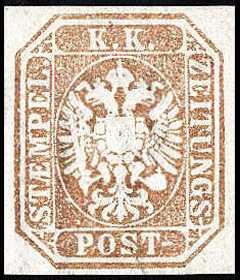 1863 - Francobolli per giornali - Aquila bicipite in rilievo