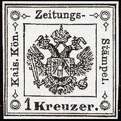 1858 - Segnatasse per giornali - tipo precedente modificato