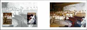 Patrimonio artistico e culturale italiano : Cesare Maccari - Centenario della scomparsa - foglietto