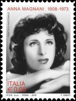 Patrimonio artistico e culturale italiano : 60° Anniversario della assegnazione del Premio Oscar ( Academy Awards ) ad Anna Magnani