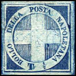 1860 - Luogotenenza - francobollo da ½ tornese - Croce di Savoia