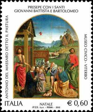 Il Santo Natale - Religioso - Presepe con S.Giovanni e Bartolomeo