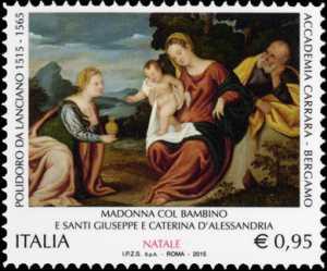 Il Santo Natale - Madonna con il Bambino e Santi - Polidoro da Lanciano