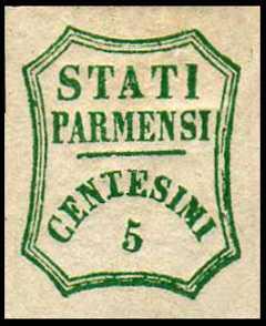 1859 - Governo Provvisorio - ottagono a linee curve