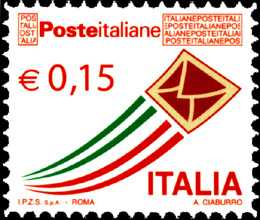 Serie ordinaria - Posta Italiana - 0,15