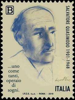 Patrimonio artistico e culturale italiano :  Cinquantenario della scomparsa di Salvatore Quasimodo