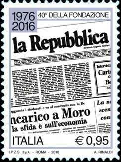 40° Anniversario della fondazione del quotidiano  « La Repubblica »