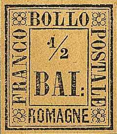 1859 - Grande cifra in contorno rettangolare
