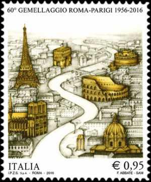 60° Anniversario del gemellaggio Roma-Parigi