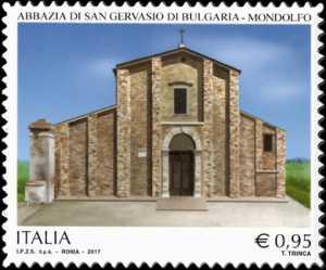 Patrimonio artistico e culturale italiano   :   Abbazia di San Gervasio di Bulgaria - Mondolfo