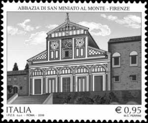 Patrimonio artistico e culturale italiano : Abbazia di San Miniato al Monte in Firenze - Millenario della fondazione