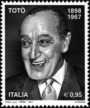 Patrimonio artistico e culturale italiano   :   Cinquantenario della morte di Antonio de Curtis, in arte Totò