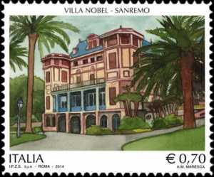 Patrimonio artistico e culturale  italiano :  Villa Nobel , Sanremo