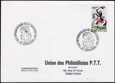 45° Anniversario della liberazione della Francia - 9 Giugno 1990