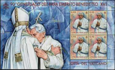90° Genetliaco del Papa Emerito Benedetto XVI - minifoglio