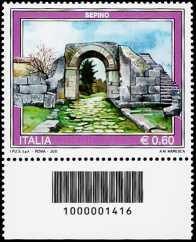 Italia 2011 - Serie Turismo - Sepino - codice a barre n° 1416