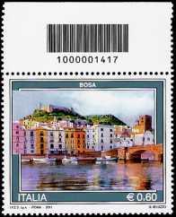 Italia 2011 - Serie Turismo - Bosa - codice a barre n° 1417