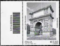 Italia 2011 - Arco di Traiano - codice a barre n° 1424