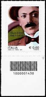 Italia 2011 - 150º anniversario della nascita di Italo Svevo - codice a barre n° 1430