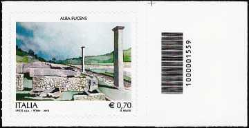 2013 - Patrimonio artistico e culturale italiano : Sito archeologico di Alba Fucens - codice a barre n° 1559
