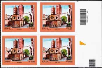 Turistica -  43ª emissione : - Albenga ( SV ) - quartina con codice a barre n° 1755