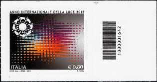 Anno internazionale della Luce - codice a barre n° 1642