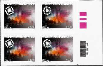Anno internazionale della Luce - quartina con codice a barre n° 1642