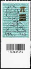 Italia 2013 - Anno Archimedeo - codice a barre n° 1553