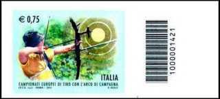 Italia 2011 - Campionati europei di tiro con l'arco di campagna - codice a barre 1421