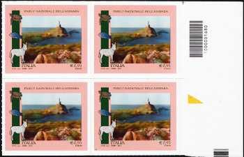 Parchi, Giardini e Orti Botanici d'Italia : Parco Nazionale dell'Asinara - quartina con codice a barre n° 1680