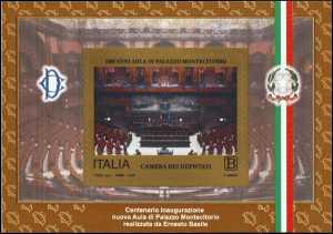 Aula di Montecitorio - Centenario della inaugurazione - foglietto