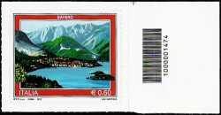 Italia 2012 - Turistica - 39ª serie - Baveno - codice a barre n° 1474
