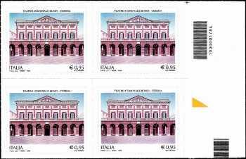 Teatro Comunale «Bonci» - Cesena - quartina con codice a barre n° 1784