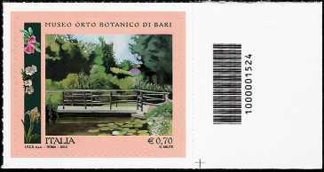 Italia 2013 - Orto Botanico di Bari  - codice a barre n° 1524