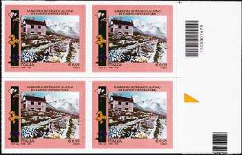 Parchi, Giardini e Orti Botanici d'Italia : Giardino botanico alpino di Campo Imperatore - quartina con codice a barre n° 1679