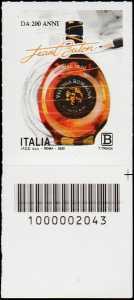 Le Eccellenze del sistema produttivo ed economico : BUTON - Centenario della fondazione - francobollo con codice a barre n° 2043 in BASSO a destra