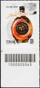 Le Eccellenze del sistema produttivo ed economico : BUTON - Centenario della fondazione - francobollo con codice a barre n° 2043 in BASSO a sinistra