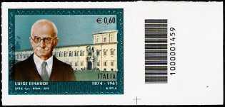 Italia 2012 - Luigi Einaudi - codice a barre n° 1459